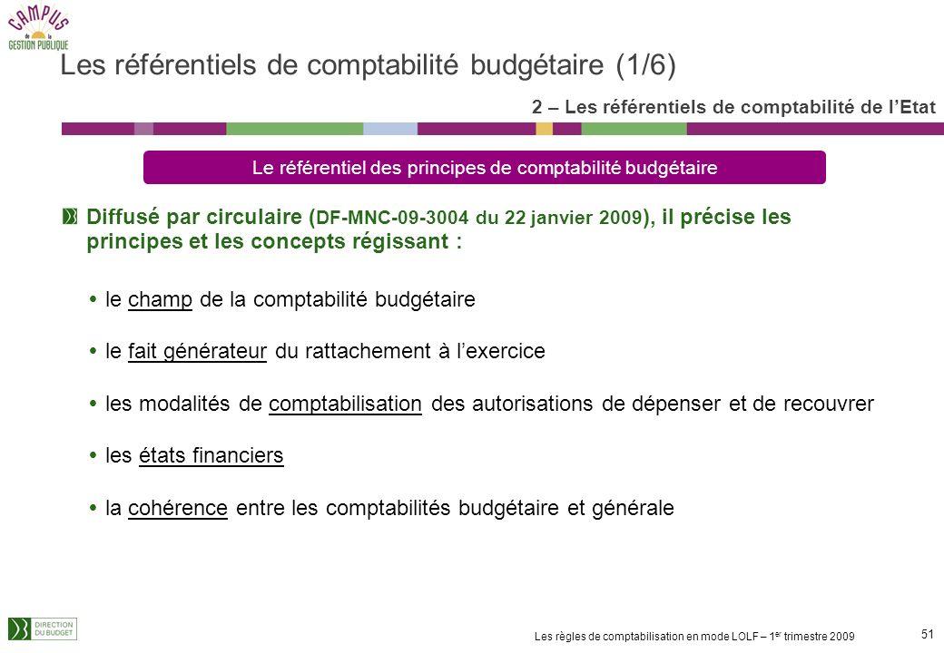 Les référentiels de comptabilité budgétaire (1/6)