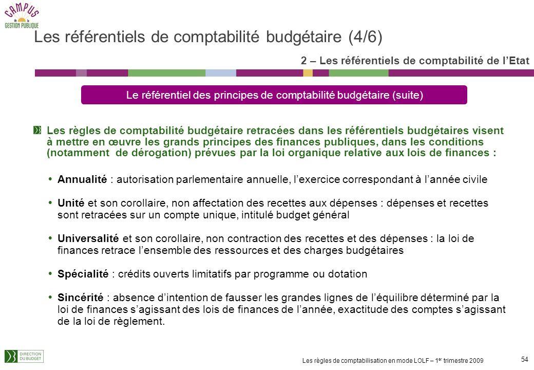 Les référentiels de comptabilité budgétaire (4/6)