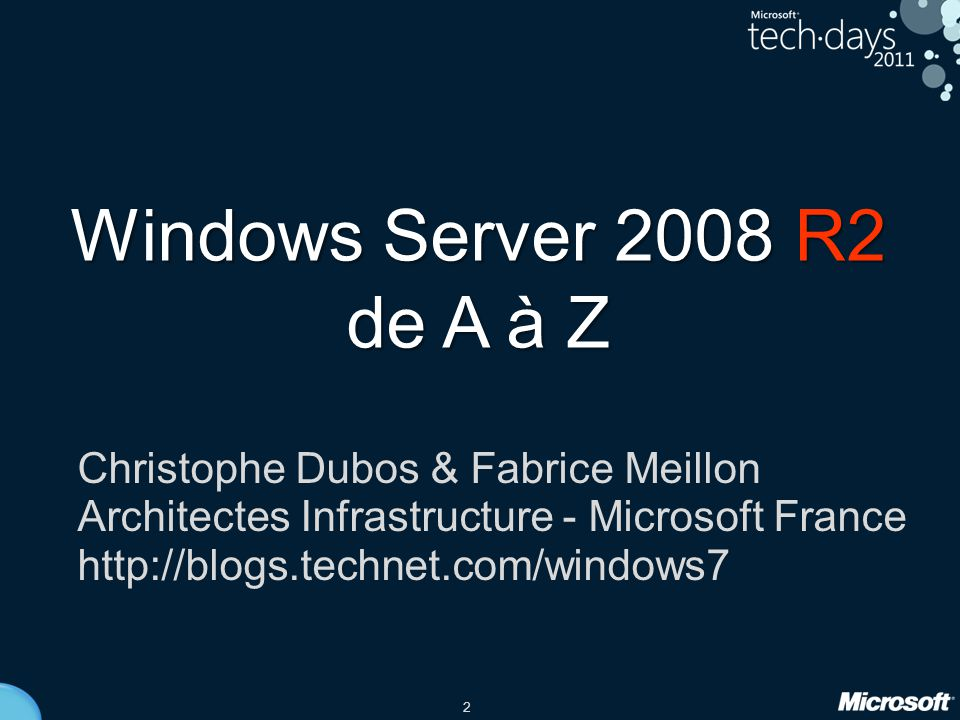 Windows Server 2008 R2 de A à Z Christophe Dubos & Fabrice Meillon