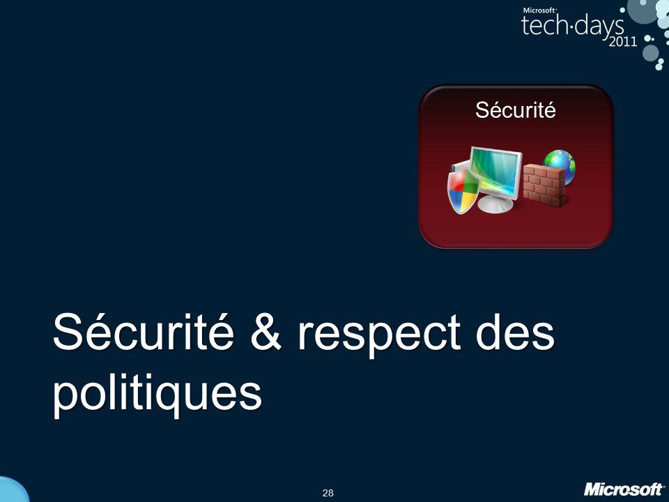 Sécurité & respect des politiques