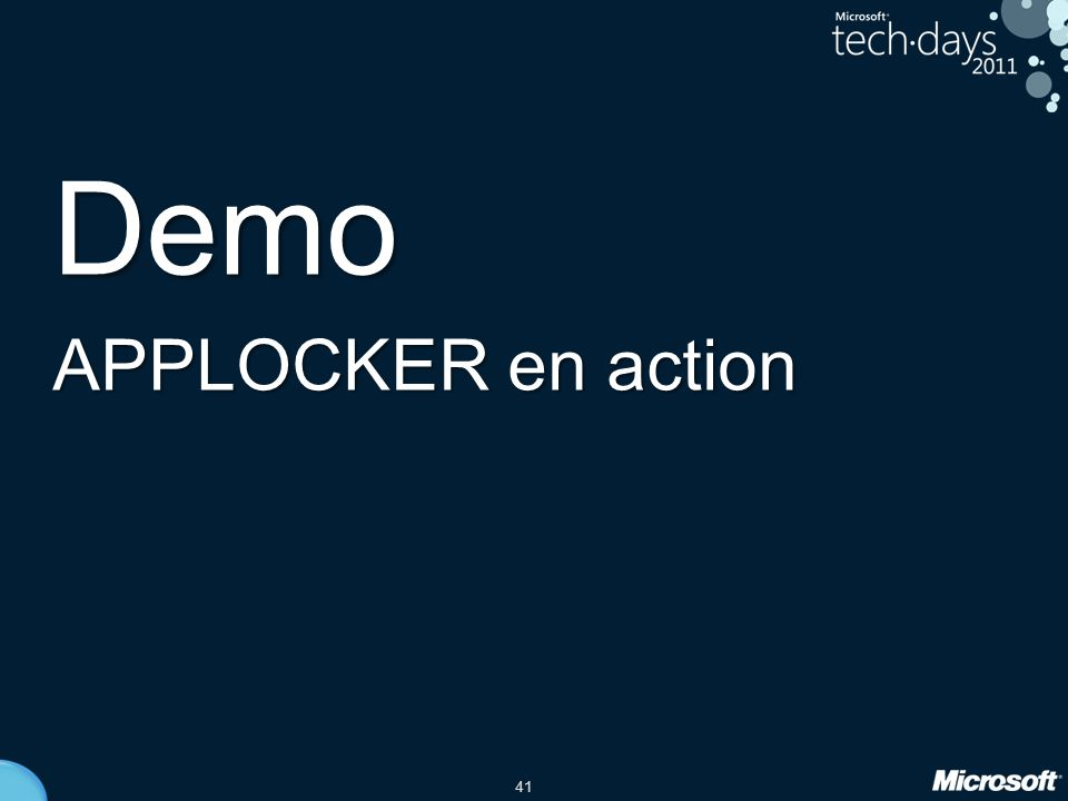 Demo APPLOCKER en action date