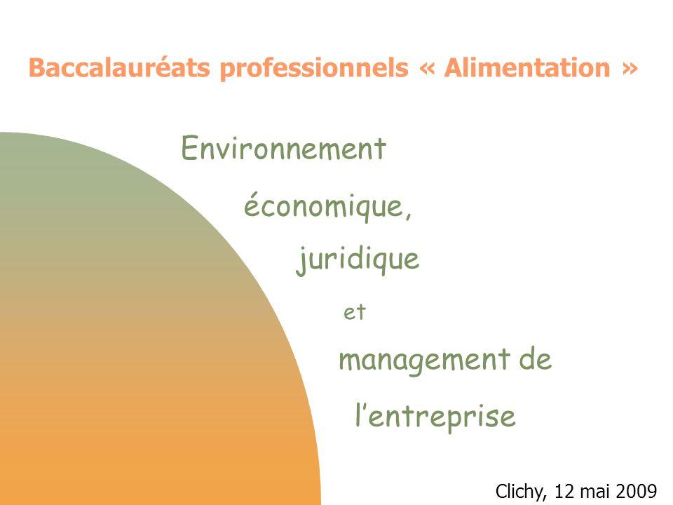 Environnement économique, juridique management de l'entreprise