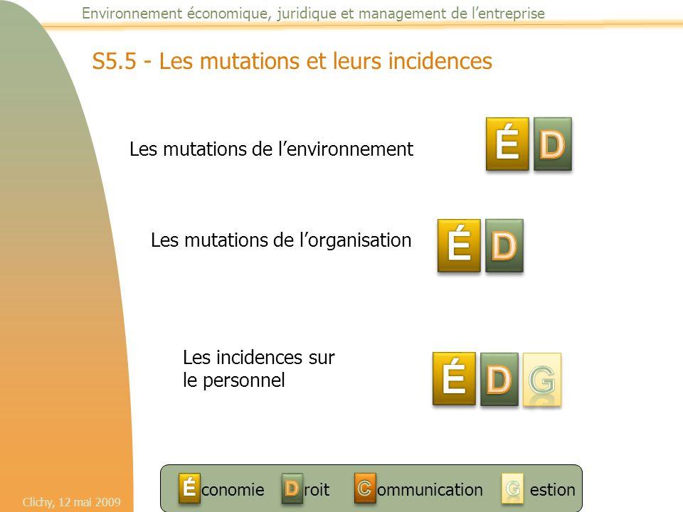 É D É D É D G S5.5 - Les mutations et leurs incidences