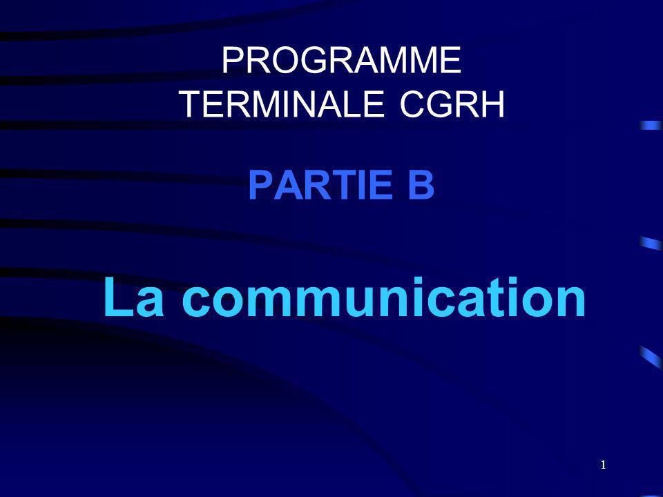 PROGRAMME TERMINALE CGRH PARTIE B