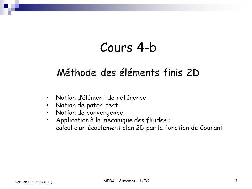 Cours 4-b Méthode des éléments finis 2D