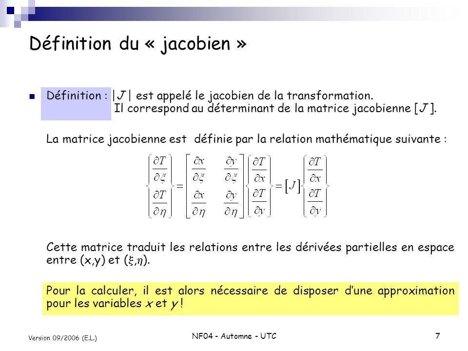 Définition du « jacobien »