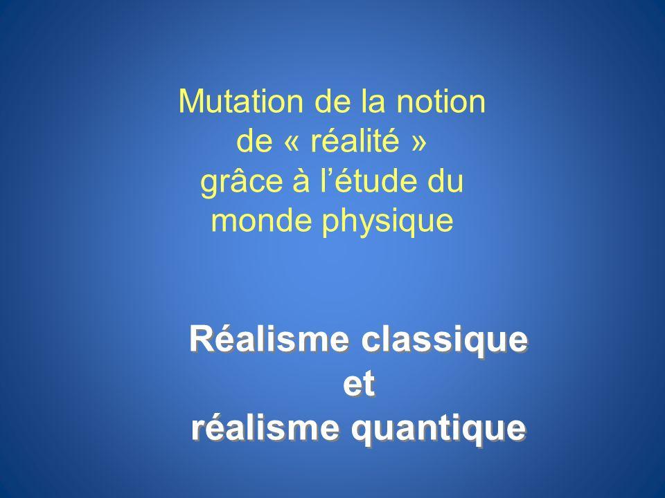 Réalisme classique et réalisme quantique