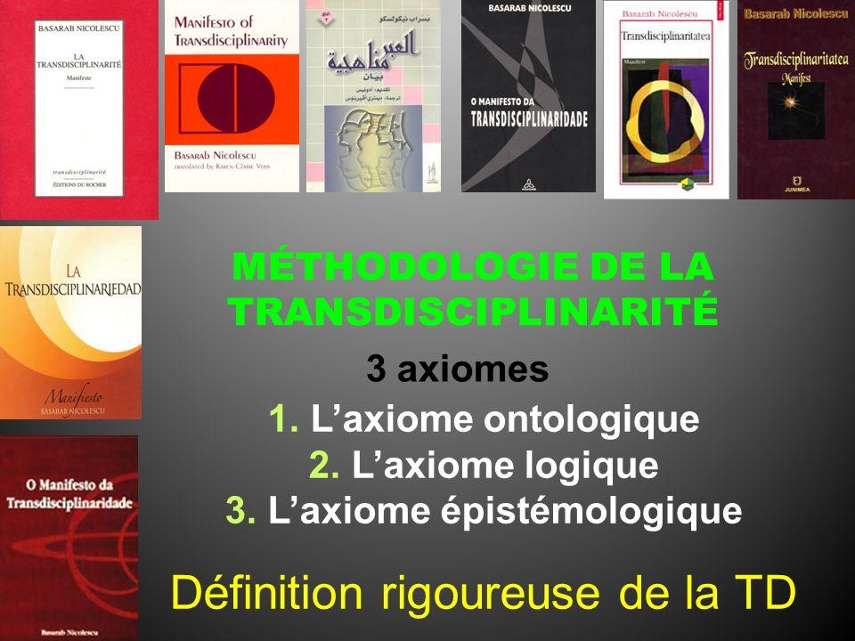 MÉTHODOLOGIE DE LA TRANSDISCIPLINARITÉ L'axiome épistémologique