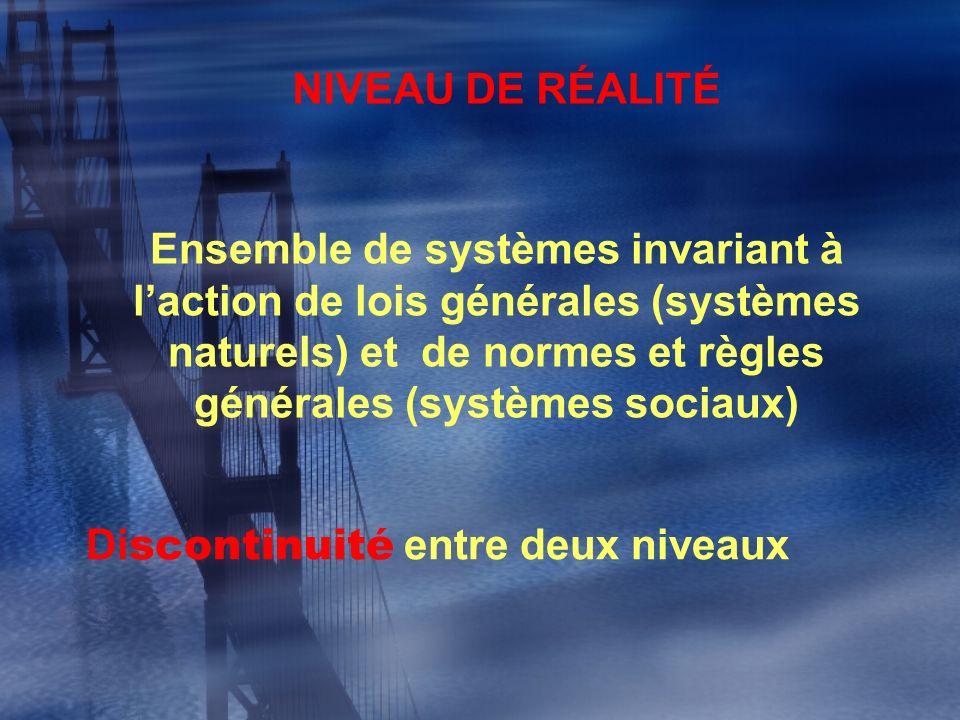NIVEAU DE RÉALITÉ