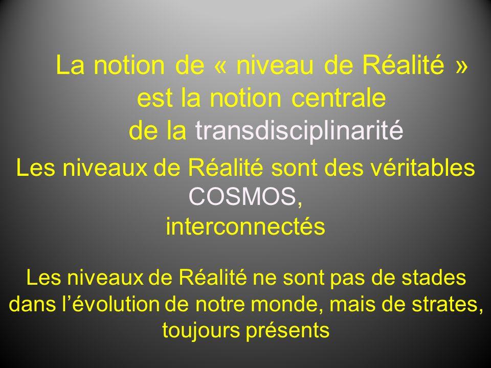 La notion de « niveau de Réalité » est la notion centrale