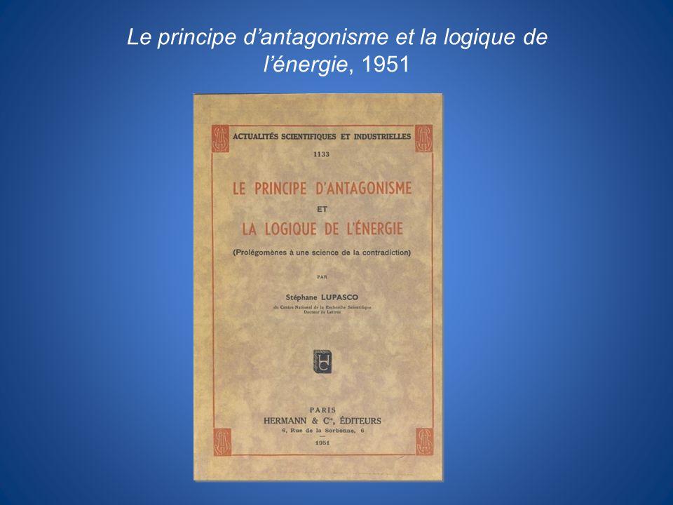 Le principe d'antagonisme et la logique de l'énergie, 1951