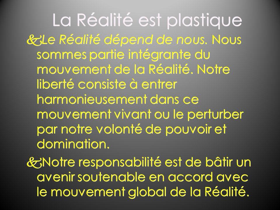 La Réalité est plastique