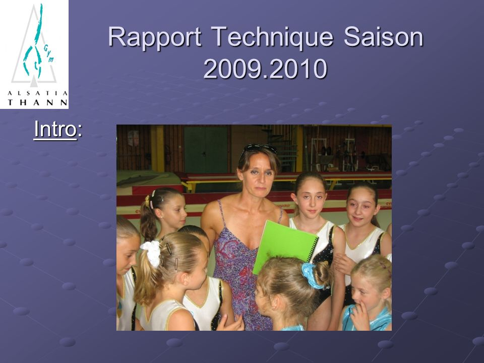 Rapport Technique Saison 2009.2010