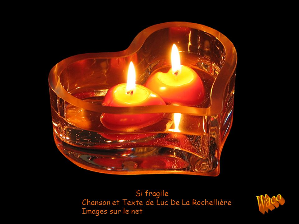 Waco Si fragile Chanson et Texte de Luc De La Rochellière