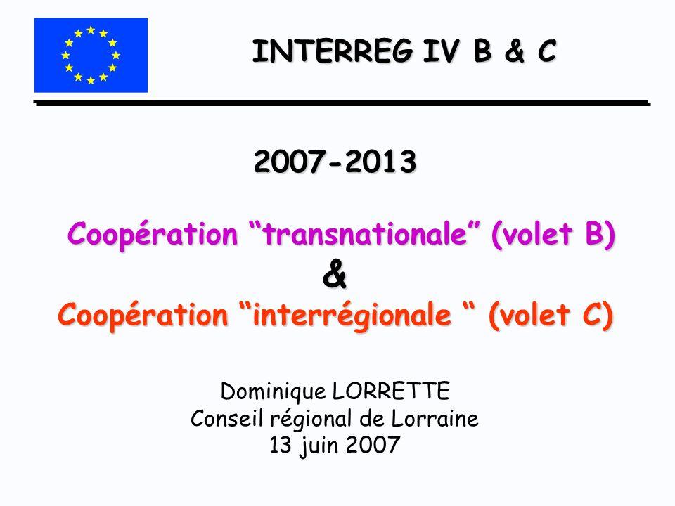 INTERREG IV B & C