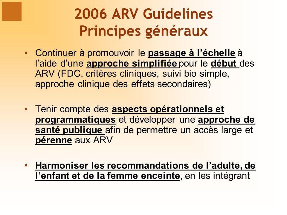 2006 ARV Guidelines Principes généraux