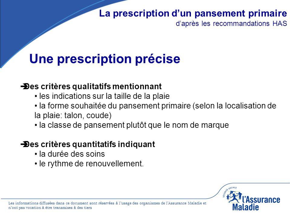La prescription d'un pansement primaire d'après les recommandations HAS
