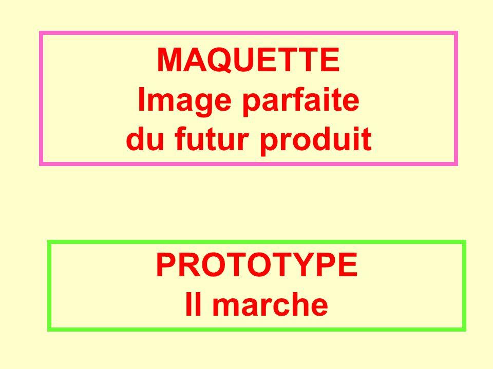 MAQUETTE Image parfaite du futur produit