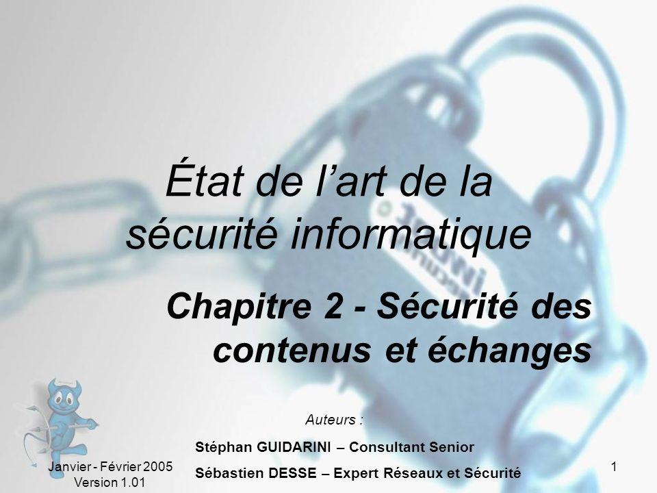 État de l'art de la sécurité informatique