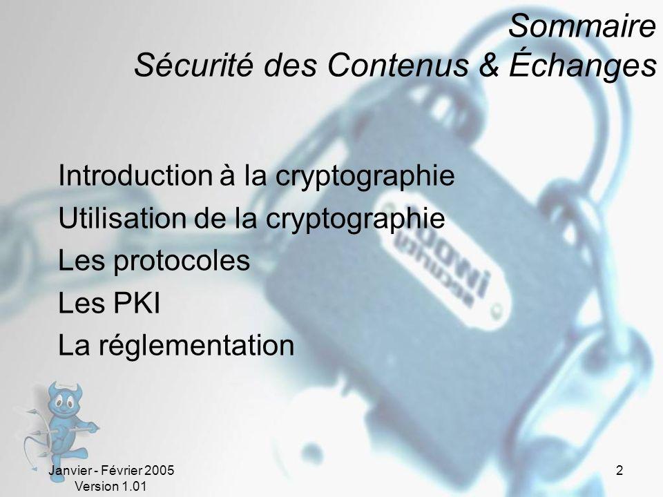 Sommaire Sécurité des Contenus & Échanges