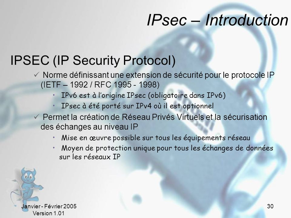 IPsec – Introduction IPSEC (IP Security Protocol)