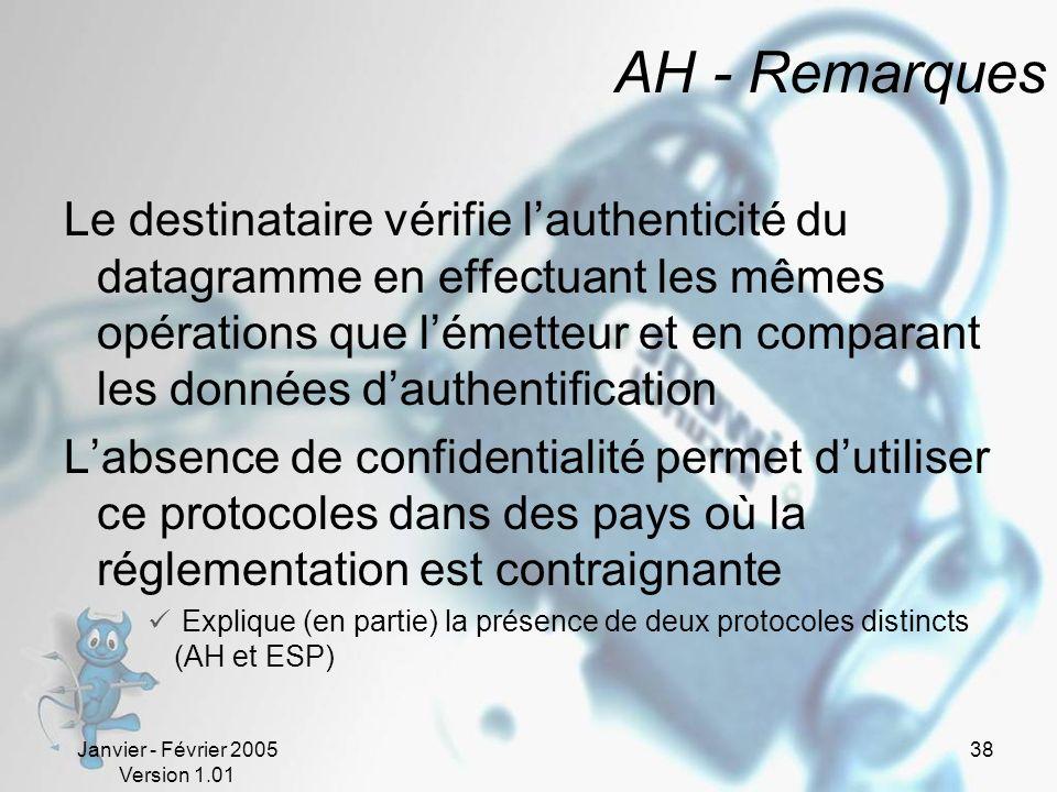 AH - Remarques
