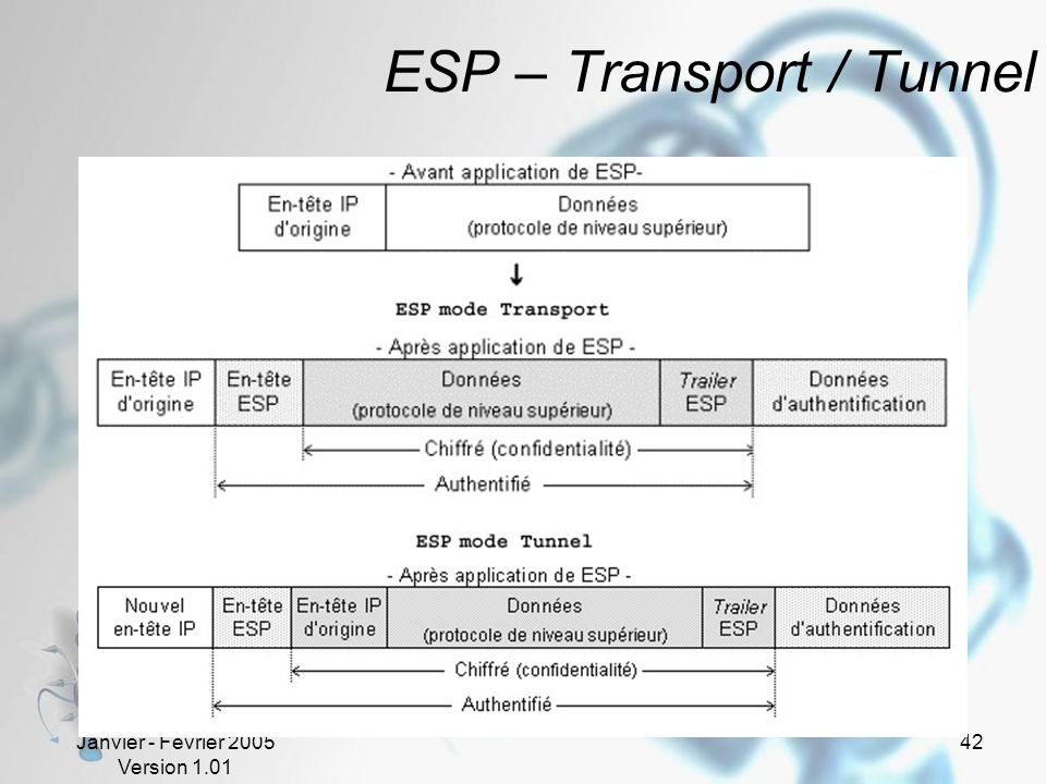 ESP – Transport / Tunnel