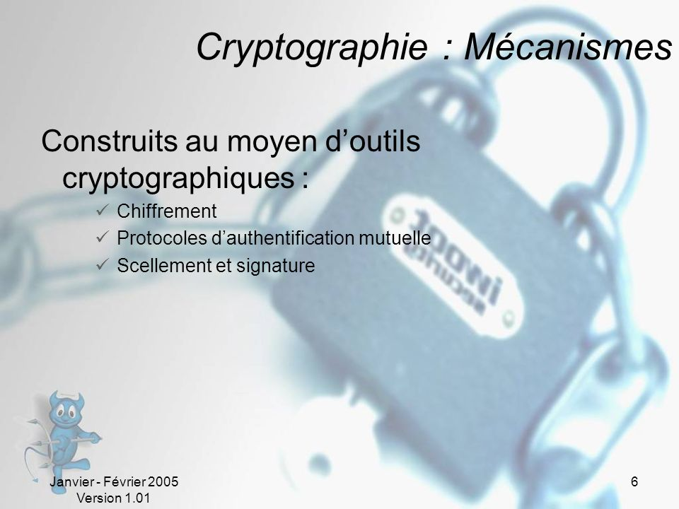 Cryptographie : Mécanismes