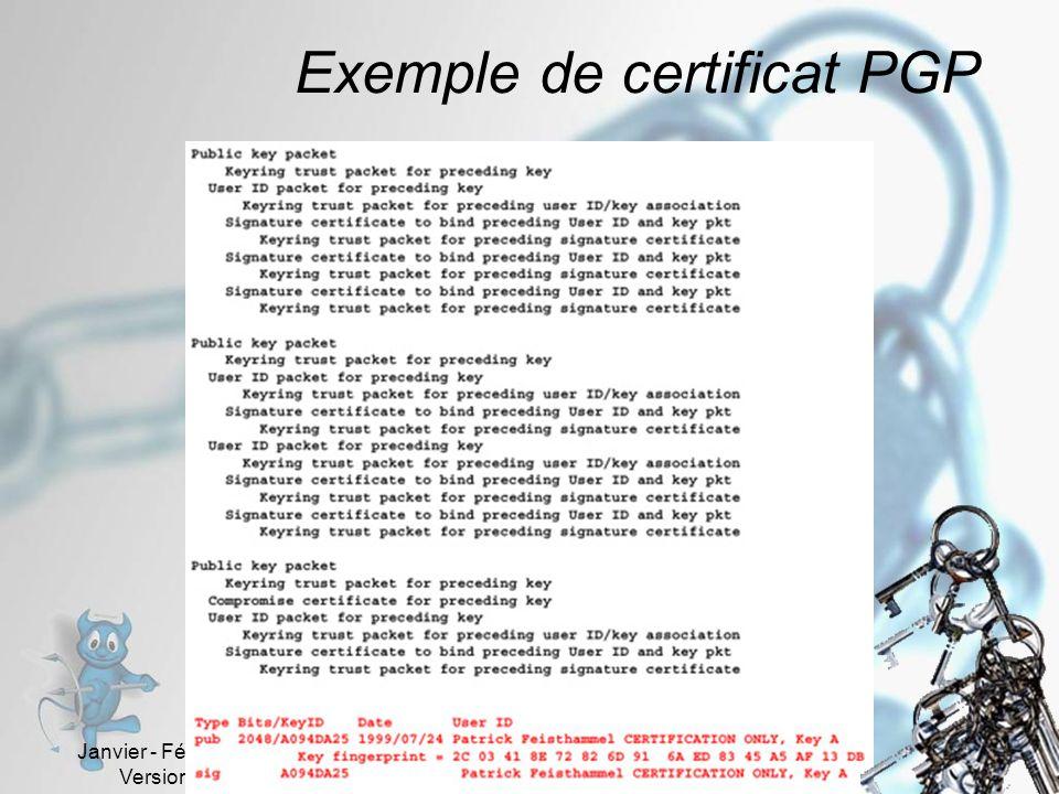 Exemple de certificat PGP
