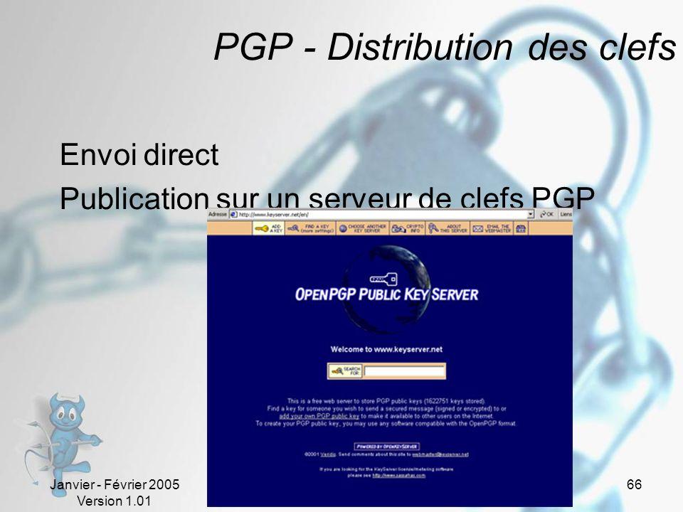 PGP - Distribution des clefs