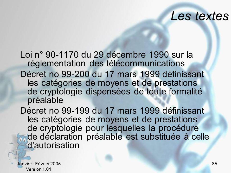 Les textes Loi n° 90-1170 du 29 décembre 1990 sur la réglementation des télécommunications.