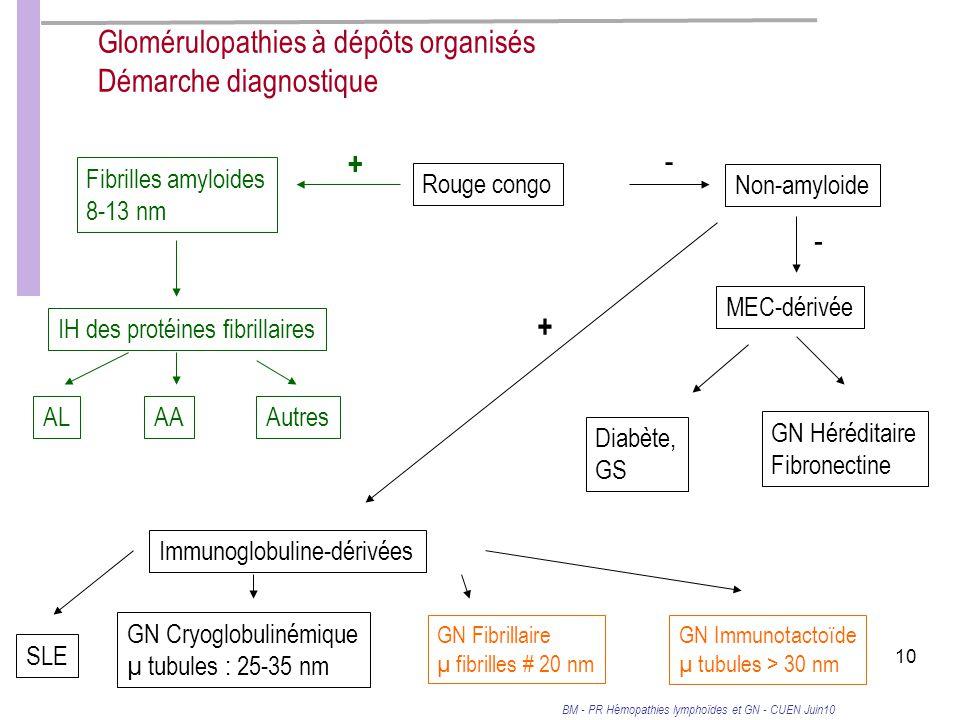 Glomérulopathies à dépôts organisés Démarche diagnostique