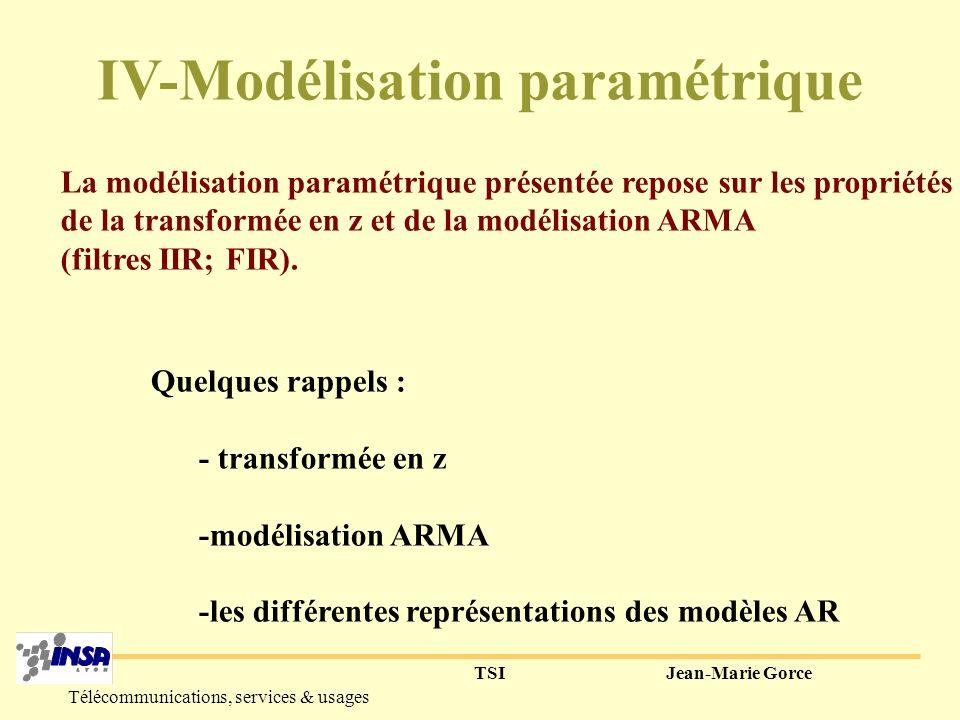 IV-Modélisation paramétrique