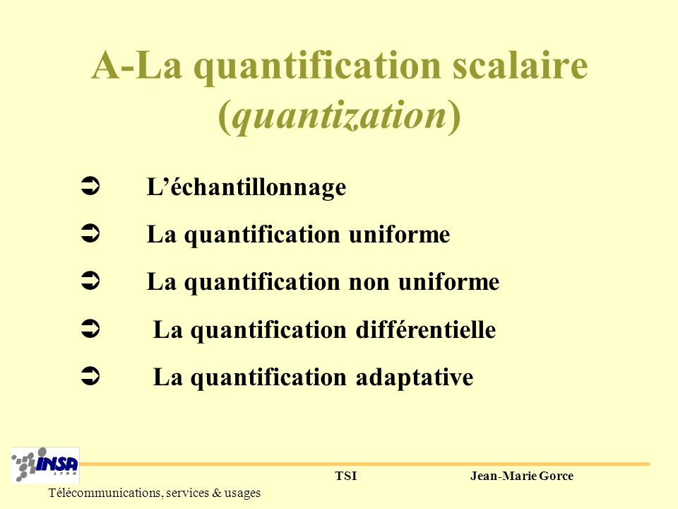 A-La quantification scalaire (quantization)