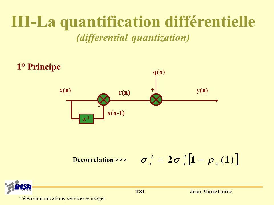 III-La quantification différentielle (differential quantization)