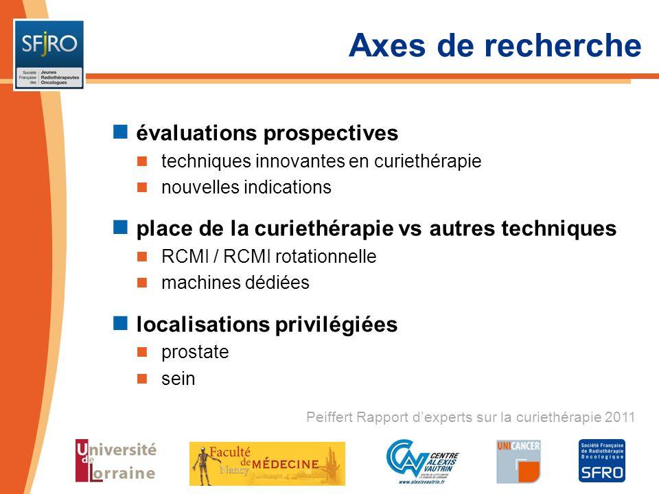 Axes de recherche évaluations prospectives