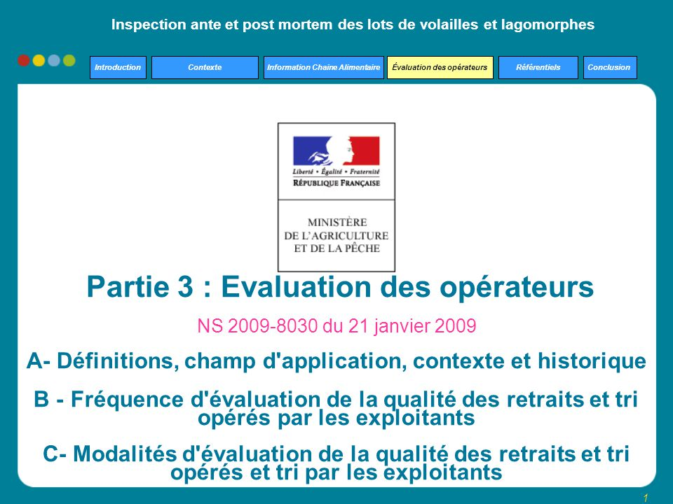 Partie 3 : Evaluation des opérateurs
