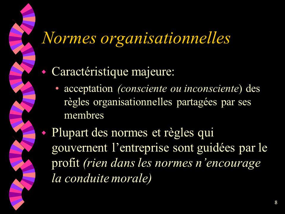 Normes organisationnelles