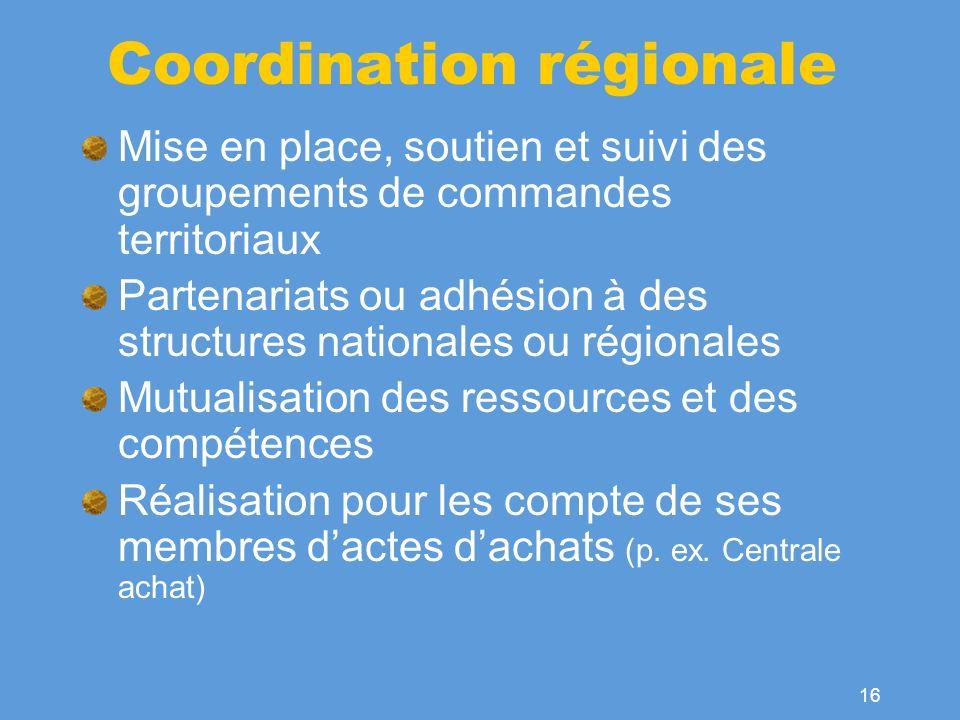 Coordination régionale