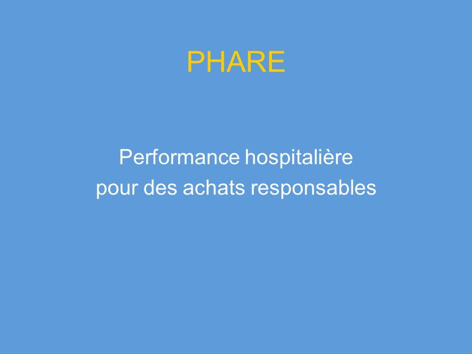 PHARE Performance hospitalière pour des achats responsables