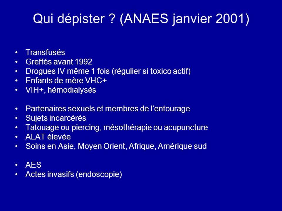 Qui dépister (ANAES janvier 2001)