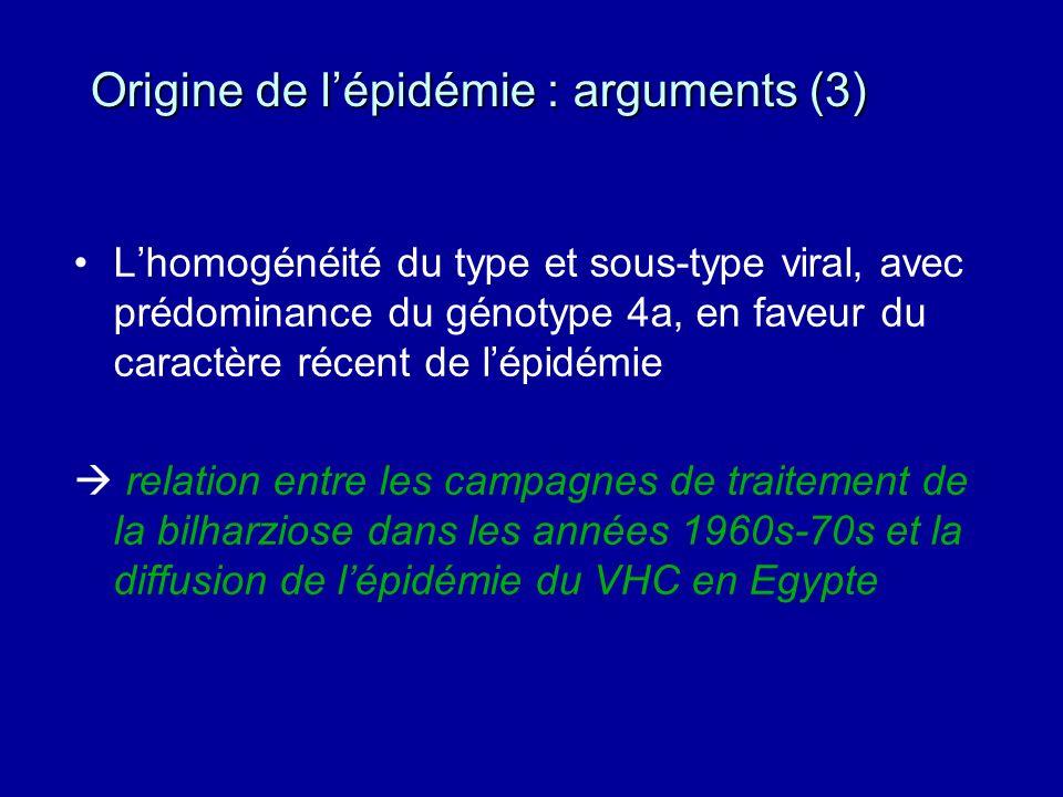 Origine de l'épidémie : arguments (3)