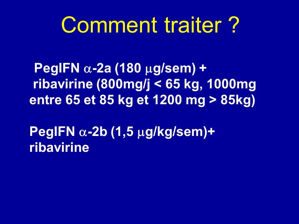 Comment traiter PegIFN -2a (180 g/sem) +