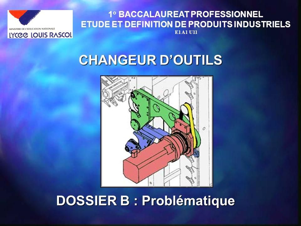 CHANGEUR D'OUTILS DOSSIER B : Problématique