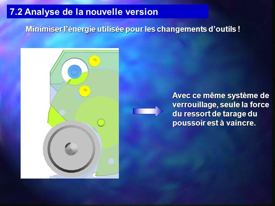 Minimiser l'énergie utilisée pour les changements d'outils !