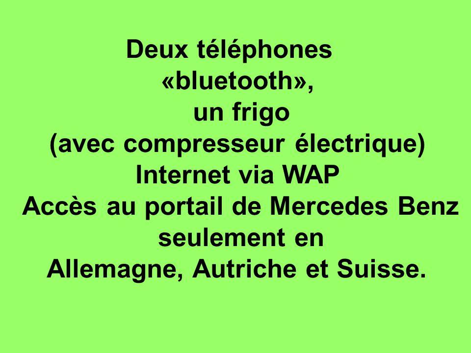 (avec compresseur électrique) Internet via WAP
