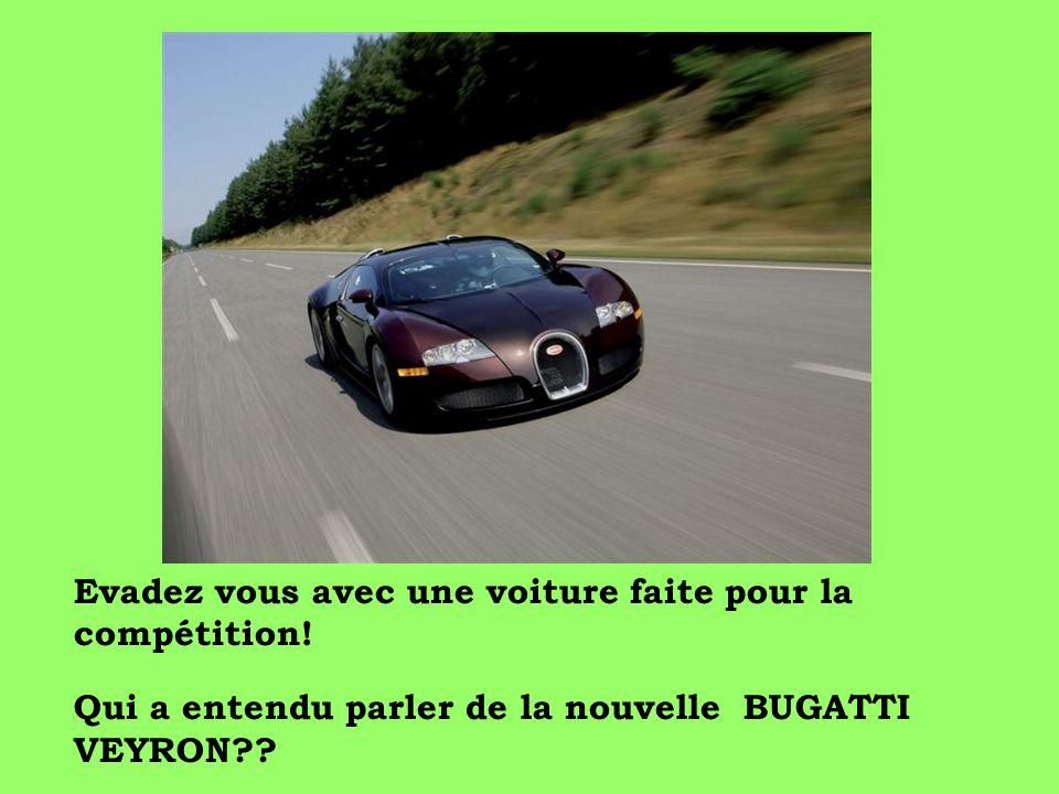Evadez vous avec une voiture faite pour la compétition!