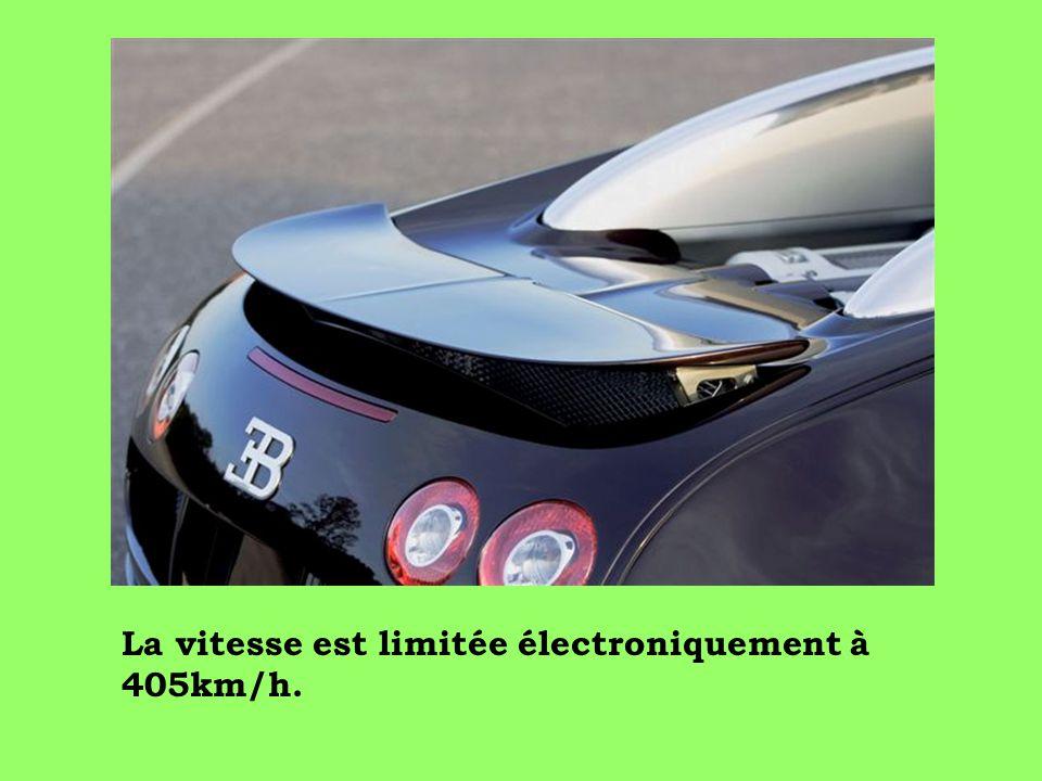 La vitesse est limitée électroniquement à 405km/h.