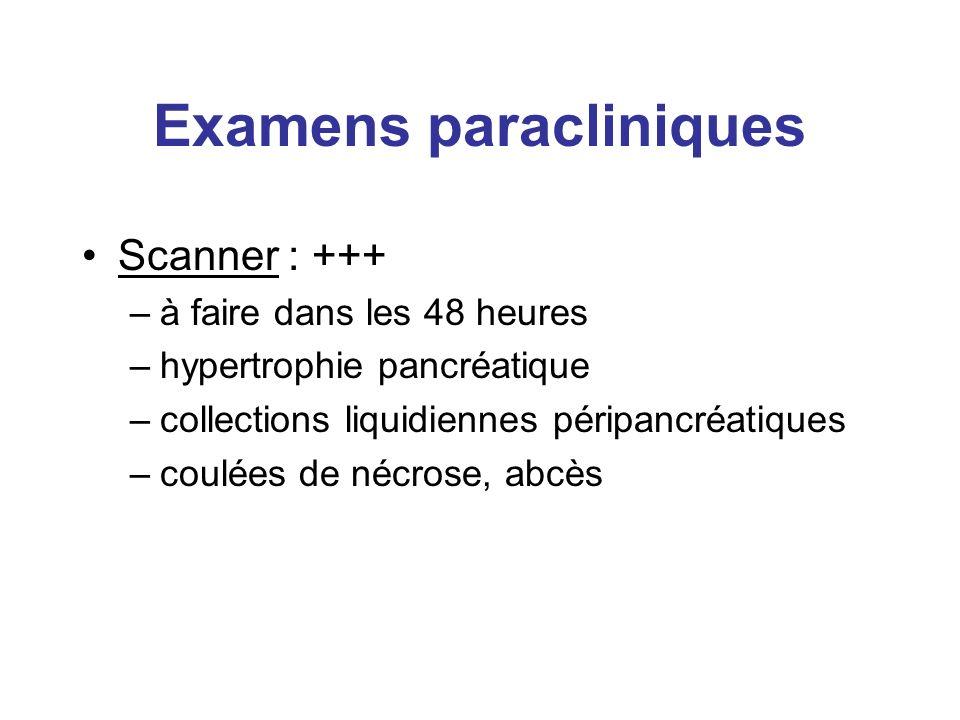 Examens paracliniques