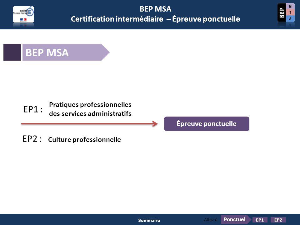 Certification intermédiaire – Épreuve ponctuelle